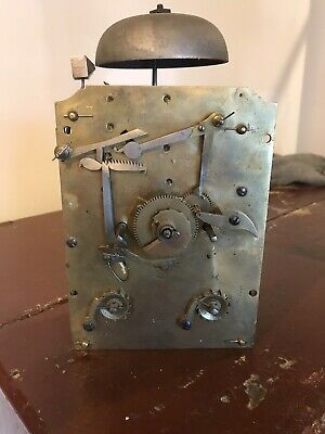 Handley And Moore Bracket Clock Movement Signed Double Fusee Circa 1800