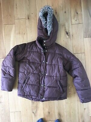 GAP Girls Super Warm Padded Jacket / Coat With Hood Age 13 / Size 8