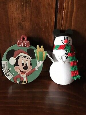 Disney Parks/Disneyland Christmas/Holiday Mickey Snowman Car Antenna Topper x 2