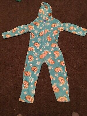 Frozen Fleece Winter All In One 1onesie - Age 6-7 Elsa
