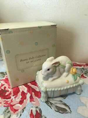 Belleek Tooth Fiary Box Trinket Bunny Baby Collection Christening Gift