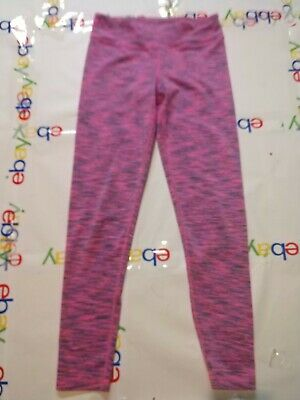 Youth Girls Pink With Strips 90 Degree Reflex Leggings Size medium