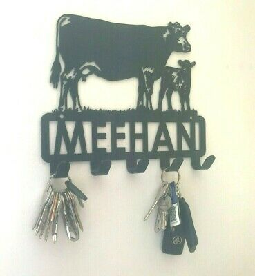 Custom made steel coathook and key ring holder