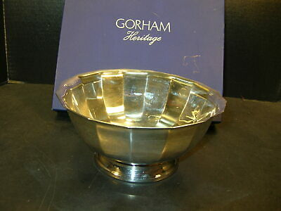 "NMIOB GORHAM HERITAGE 8"" SilverPlate BOWL in Factory Box"