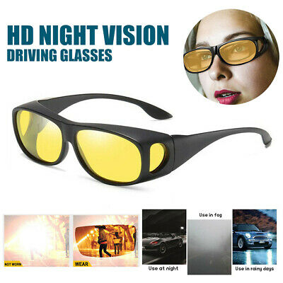 Anti-glare Yellow HD Night Vision Driving Glasses Sunglasses Goggles UK