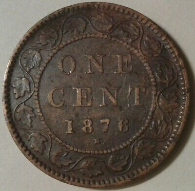 1876H CANADA ONE CENT Coin