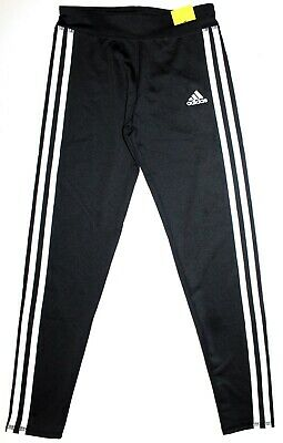 NWOT Adidas Girl's Youth 3 Stripe Active Tight Legging Black Size L 14