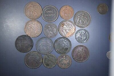 Lot Of 15 Mixed Tokens Circulated In Australia Mainly Prof Holloway 1D & 1/2D