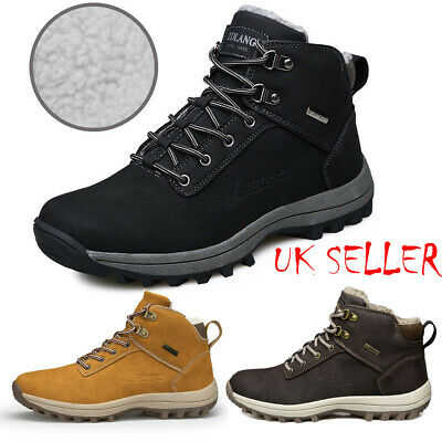 Mens Sports Shoes Waterproof Winter Warm Snow Boots Outdoor Hiking Trainers UK
