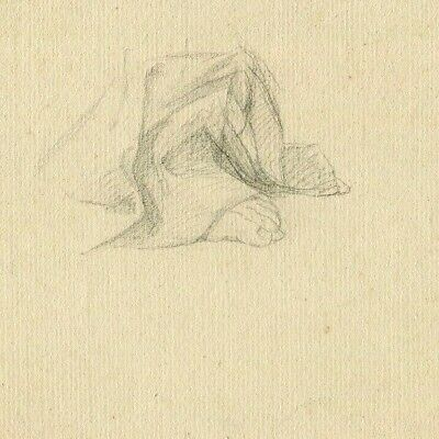19th Old Pencil Drawing - Dessin Ancien - Pied, Foot, Sculpture