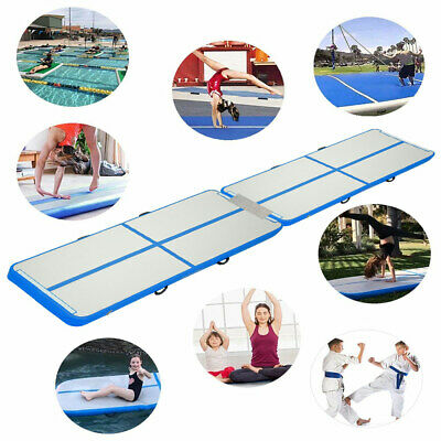 20ft Air Track Floor Gymnastics Tumbling Spliced Inflatable Mat GYM Airtrack Pad