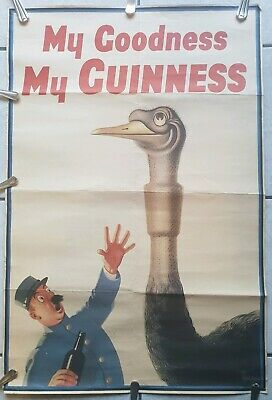 Rare Guinness Beer Bar Pub Sign Poster John Gilroy Ireland Paper Picture