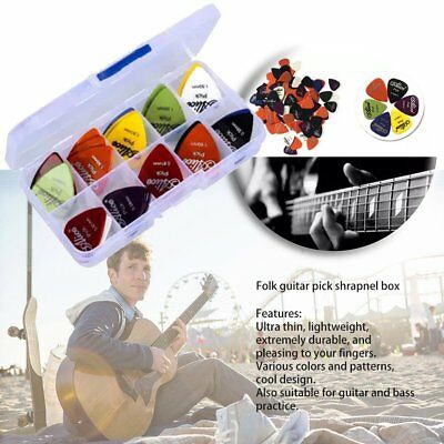 100X Acoustic Bulk Electric Smooth Guitar Pick Picks Plectrum 0.46mm V6
