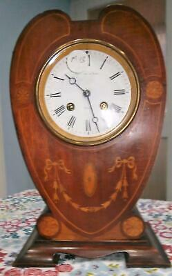 Inaid Mahogany French Clock in good Working Order