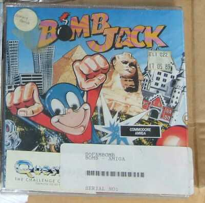 Bomb Jack game for the Commodore Amiga vintage computer