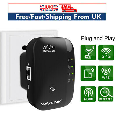 Wavlink 300Mbps Range Extender WiFi Repeater Internet Booster Signal Booster WPS