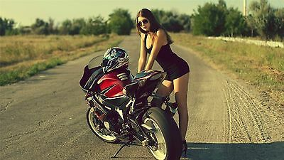"Motorbikes Motorcycles Superstreetbike Sportbike Art Fabric Poster 24/""x13/"" 041"