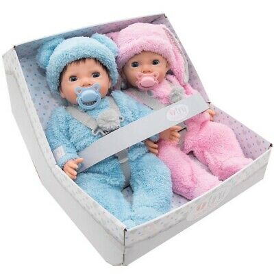 💝 Chad Valley Tiny Treasures Twin dolls Fluffy Bumper Set twins doll💙