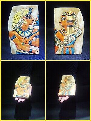 EGYPTIAN ANTIQUE ANTIQUITIES Two Different Sides Drawings Stela 1549-1305 BC