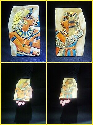 EGYPTIAN ANTIQUE ANTIQUITY Two Different Sides Drawings Stela 1549-1305 BC