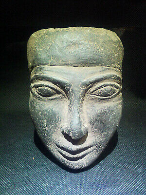 EGYPTIAN ANTIQUES ANTIQUITY King Amenemhet III Face Sculpture 1991-1782 BC