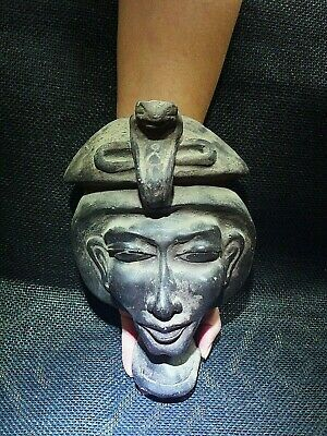 EGYPTIAN ANTIQUES ANTIQUITY Akhenaten Amenhotep IV Face Sculpture 2700-2185 BC