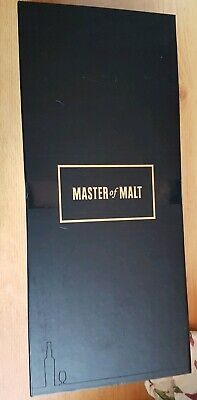 Presentation gift box -Master of Malt PLUS bottle shaped 'bubble wrap' see pics