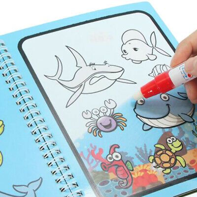 Water Drawing Book Magic Doodle Coloring Book Learning Painting & Pen Kids Funny