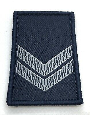 LBV Rank Woven Patch #2, Dark Blue, VIC, Police, NOT official, Hook Rear
