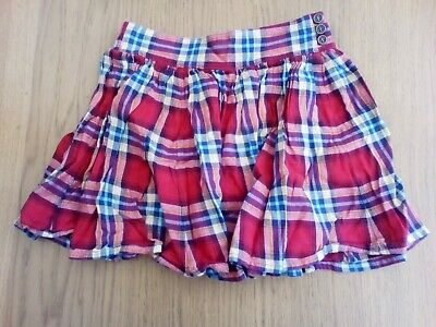 Girls Red Checked Skirt From Next Age 10yrs (Pre-owned).