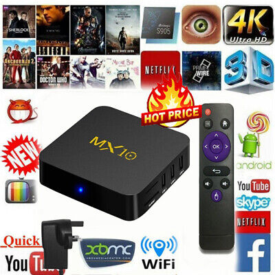 MXQ Pro 4K SMART TV BOX Android 8.1 OREO MXQ Pro WiFi HDMI 3D Media Player Gifts