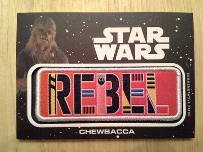 Star Wars Journey to The Rise of Skywalker Jumbo Patch Card Chewbacca