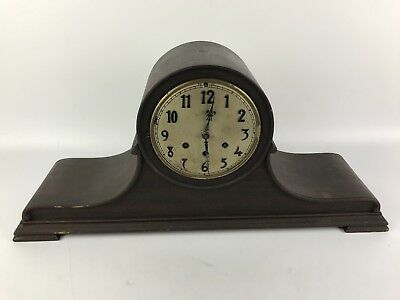 "25"" Gustav Becker Mahogany Mantle Clock Westminster Chime #1485"