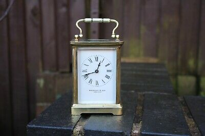 antique brass  carriage clock wheatley and sons carlisle