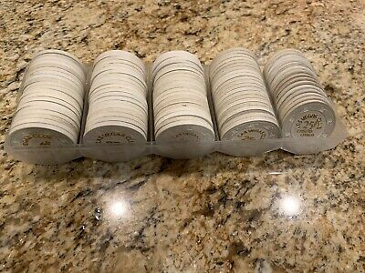 95 Chip Rack Lot Las Vegas Club .25 Cent Fractional Casino Chips - 3 Variations