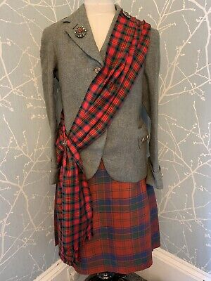 Vintage Heavy Wool Kilt With Pin - Full Outfit Available