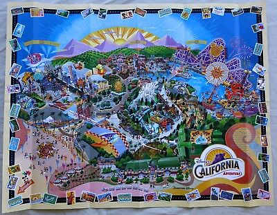 BEST Disney California Adventure FIRST YEAR Map day DCA 2001 Disneyland RARE