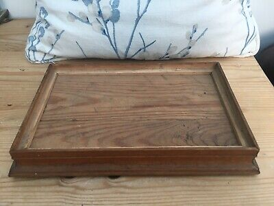 Vintage Solid Wooden Handmade Rectangular Display Stand Base Plinth Tray