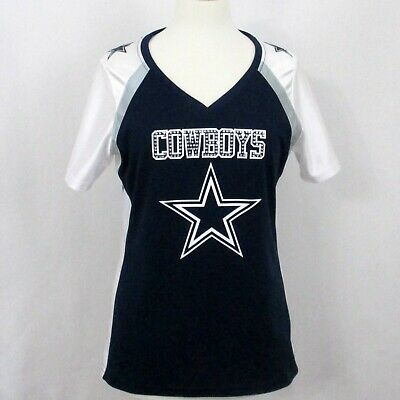 Dallas Cowboys Size M Women's Game NFL Jersey Rhinestone Bling Glitter Dallas 12