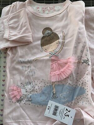 Mothercare Cute Girls PJ Set Of 2 ** New With Tags **