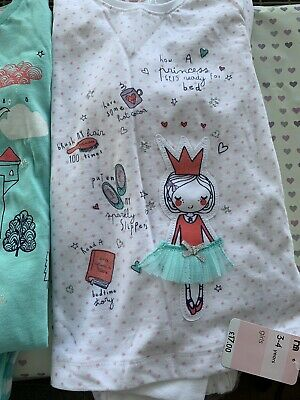 Mothercare Girls PJ Set Of 2 ** New With Tags **