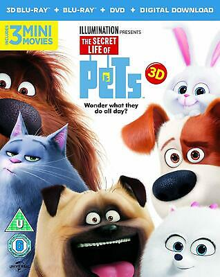 The Secret Life Of Pets     3D  Blu-Ray + Blu-Ray +DVD     Brand new and sealed