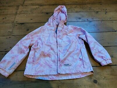 REGATTA pink Girls Waterproof Hooded Jacket Coat Lined Age 3 - 4 Raincoat Anorak