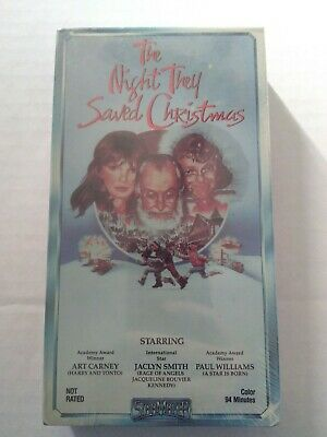 New Vintage Deadstock The Night They Saved Christmas VHS Gift Present Movie 1984