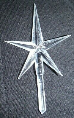 New Clear Medium Pointed Star For Ceramic Christmas Tree Topper Ornament Craft