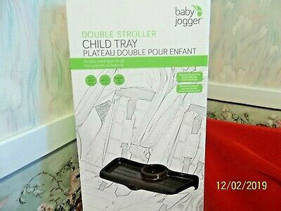 ✨ Baby Jogger 🎁 Double Stroller Child Tray Cup Holder Snack Tray ~ NEW in Box