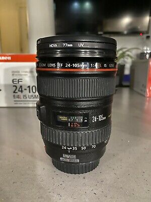 Canon EF 24-105mm F/4.0 L IS USM Zoom Lens + Hood