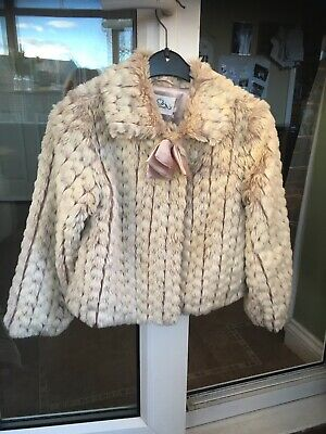 girls fake fur coat age 8