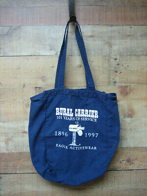 US Rural Mail Carrier Tote Bag USPS Rural Carrier 101 Years Eagle Activewear