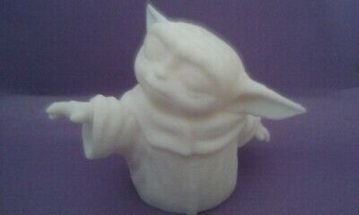 Baby Yoda Figurine. 3D Printed PLA. White Easy to Paint. Star Wars Statue